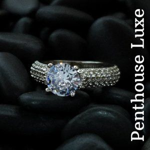 Round Cut Diamond Solitaire Sterling 925 Ring
